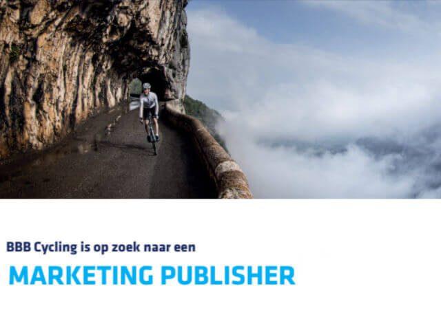 BBB Cycling zoekt marketing publisher met passie voor fietsen