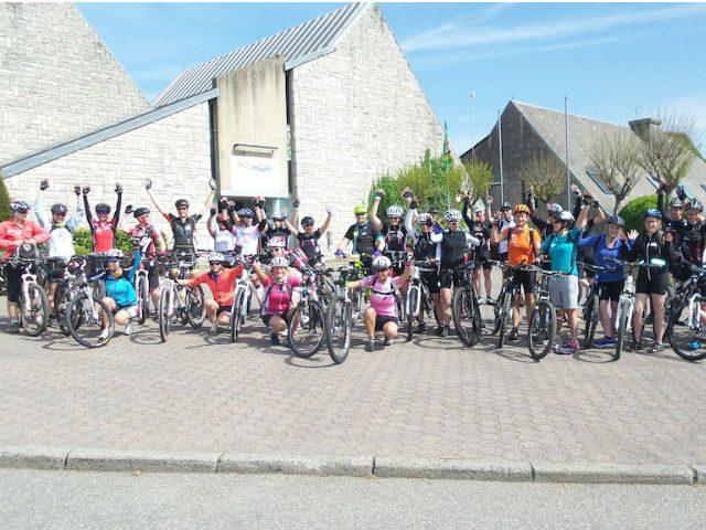 Vier dagen mountainbiken voor Think-Pink