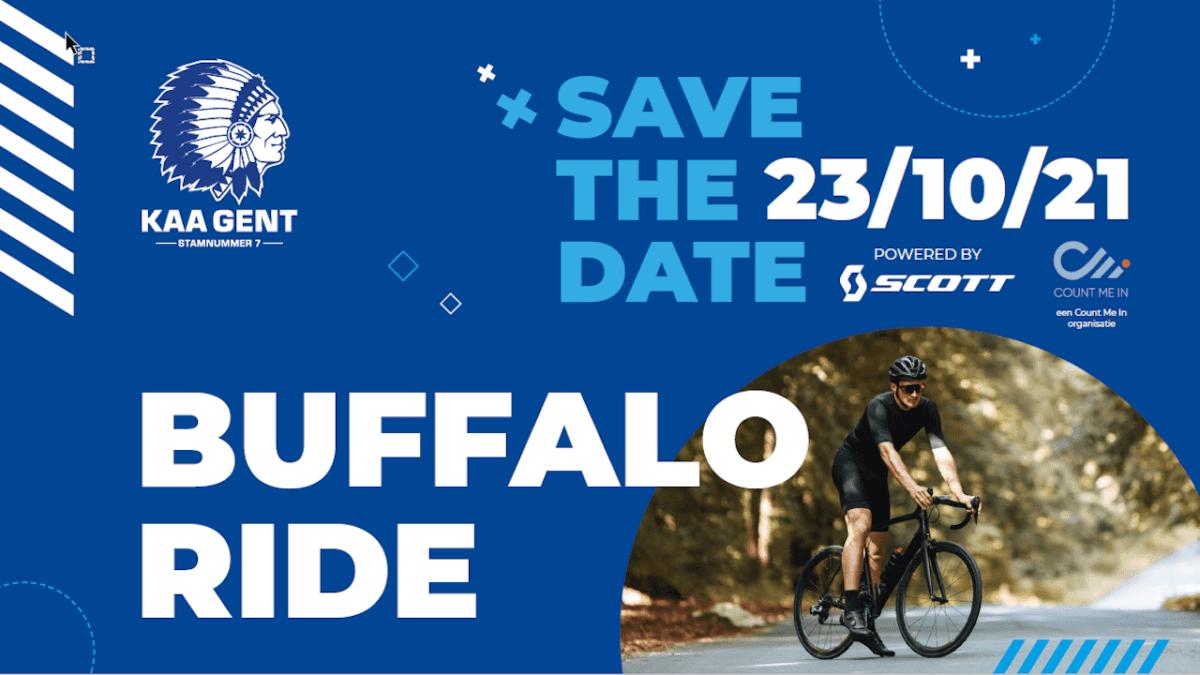KAA Gent gaat met Buffalo Ride de fietstoer op